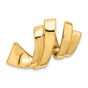 14k Fits up to 8mm Regular, 10mm Fancy Reversible Omega Slide