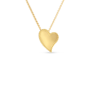 18Kt Gold Heart Necklace