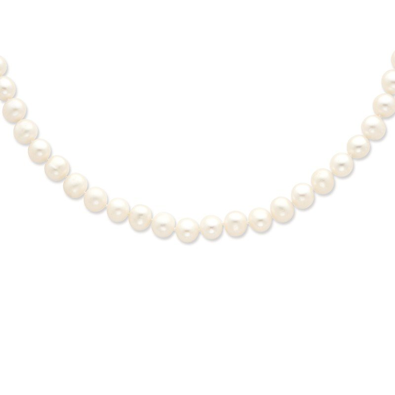 Quality Gold Sterling Silver Rhodium-plated 8-9mm White FWC Pearl Necklace