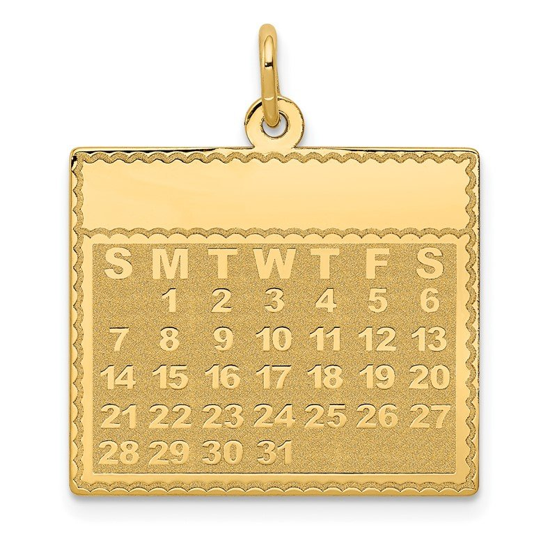 J.F. Kruse Signature Collection 14k Monday the First Day Calendar Pendant