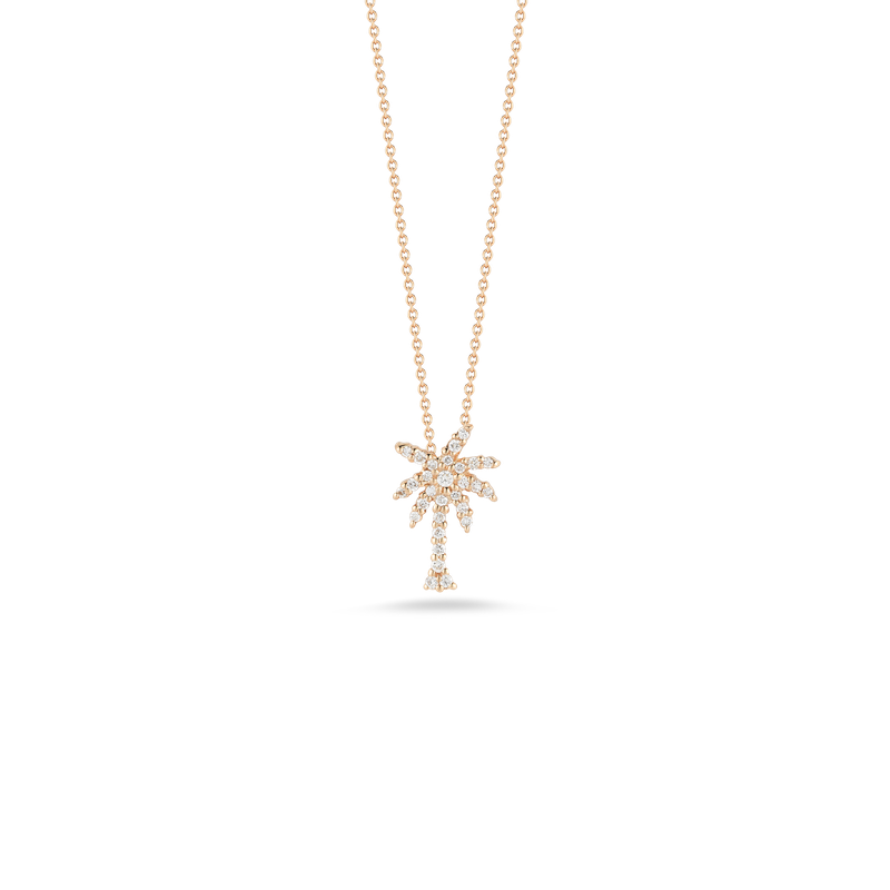 Roberto Coin 18Kt Gold Small Palm Tree Pendant With Diamonds