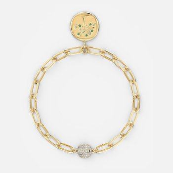 The Elements Tree Bracelet, Green, Gold-tone plated