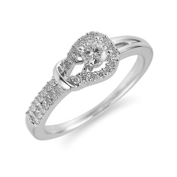 14K WG Diamond Pave Set Ring