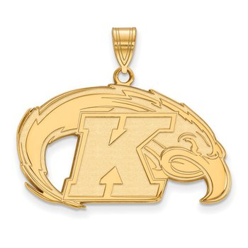 Gold-Plated Sterling Silver Kent State University NCAA Pendant