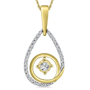 Diamond Pendant in 14K White/Yellow Gold (.25 ct. tw.)