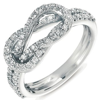Platinum Love Knot Ring