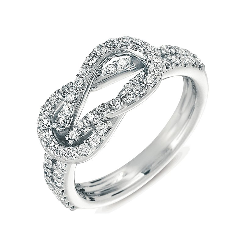 S. Kashi  & Sons Platinum Love Knot Ring