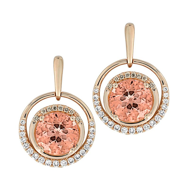 Chatham Champagne Sapphire Earrings-CE4243RCS