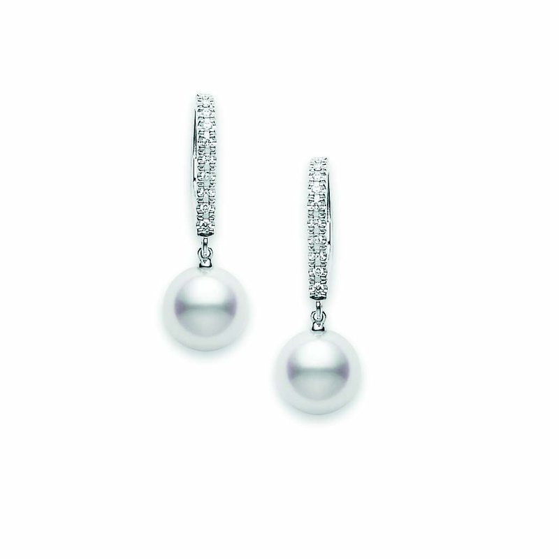 Mikimoto Classic Elegance Akoya Cultured Pearl Lever Back Earrings