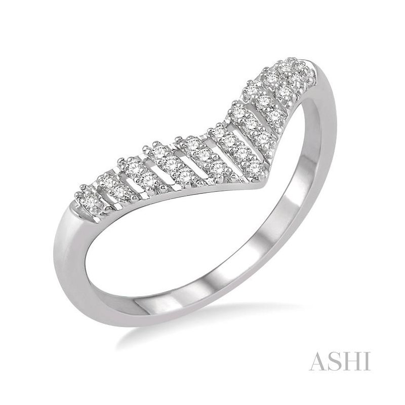 ASHI diamond chevron ring