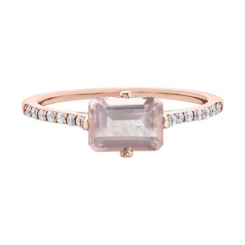 Rose Quartz Ladies Ring