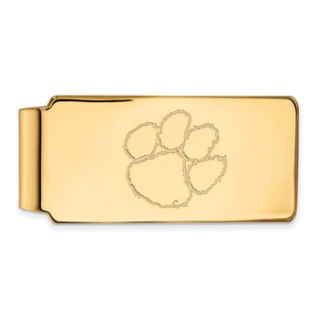 Gold-Plated Sterling Silver Clemson University NCAA Money Clip