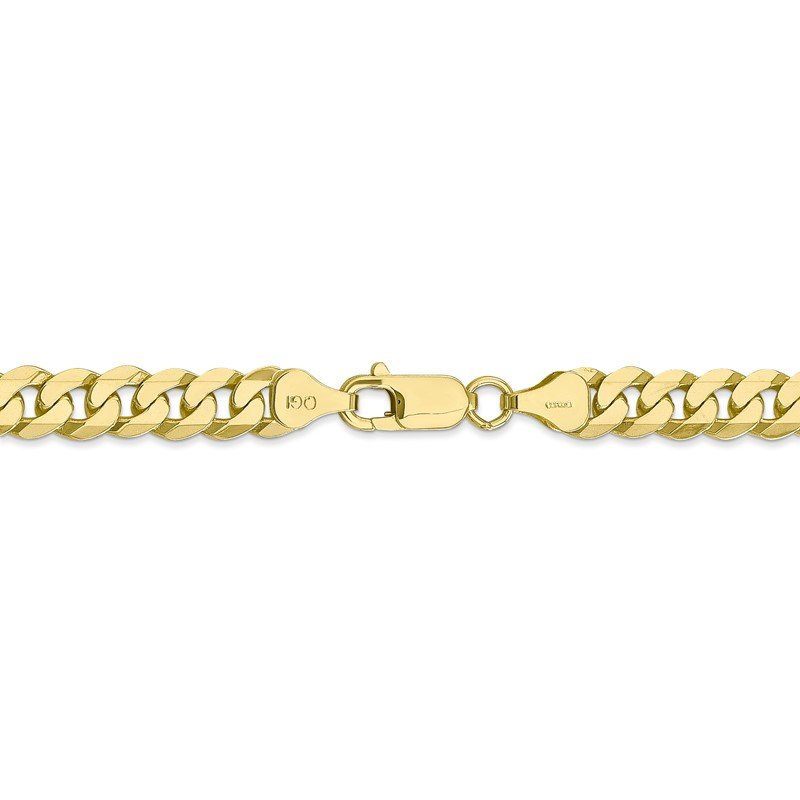 Quality Gold 10k 6.75mm Flat Beveled Curb Chain