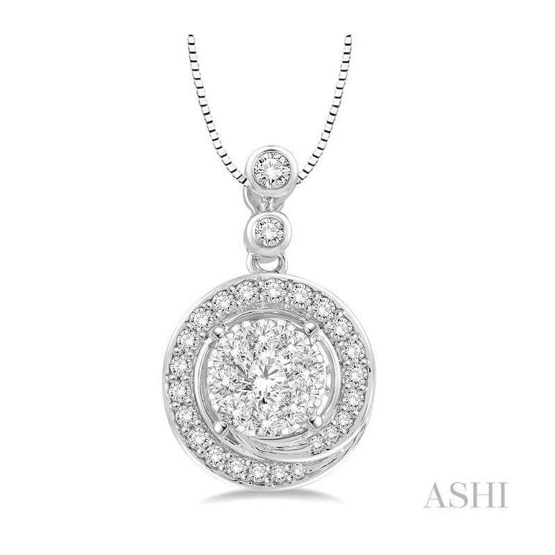 Gemstone Collection lovebright diamond pendant
