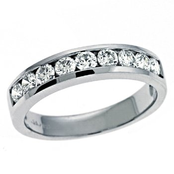 Diamond Band White Gold