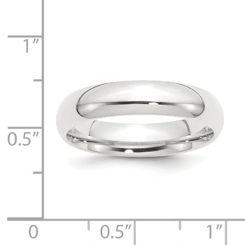 Platinum 5mm Half-Round Comfort Fit Lightweight Band