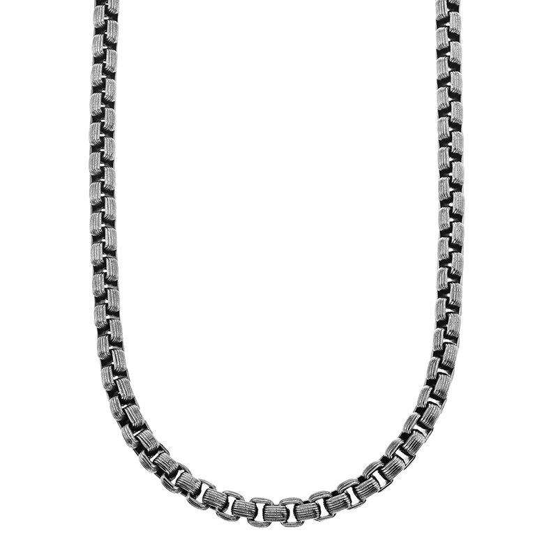 SDC Creations Men's Steel Box Chain Necklace