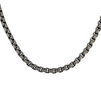 Men's Steel Box Chain Necklace