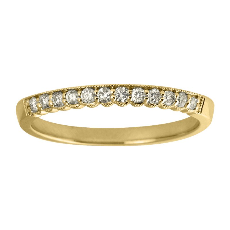 Color Merchants 14K Yellow Gold Diamond Band Ring