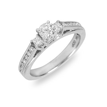 14K WG Diamond Engangement Ring