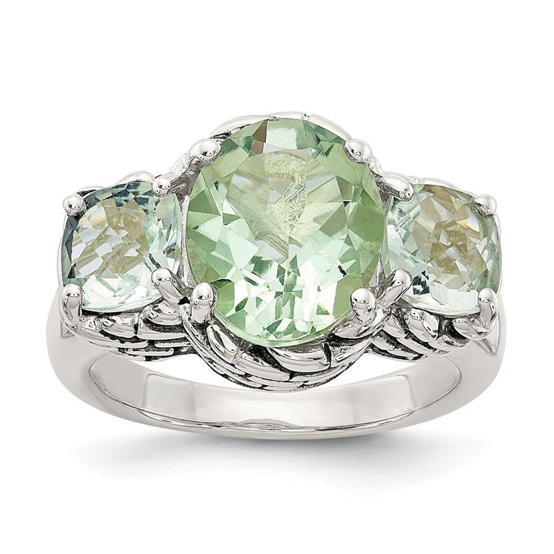 Shey Couture Sterling Silver Green Quartz Ring