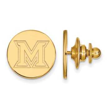 Gold-Plated Sterling Silver Miami University NCAA Lapel Pin