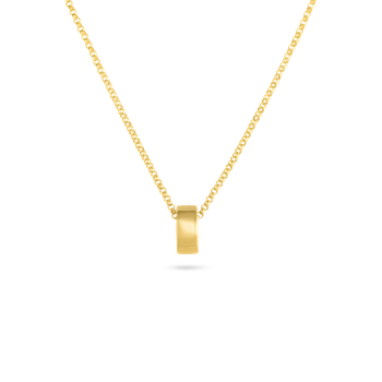 18Kt Gold Golden Gate Rondel Pendant