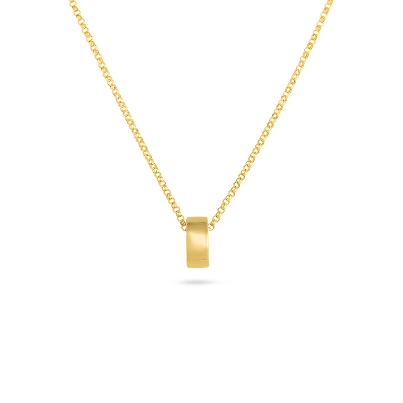 Roberto Coin 18Kt Gold Golden Gate Rondel Pendant