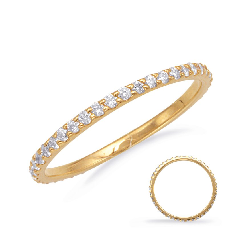 S. Kashi & Sons Bridal Yellow Gold Eternity Band