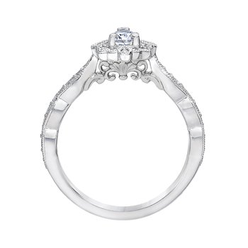 Pear Halo Engagement Ring by Love Story