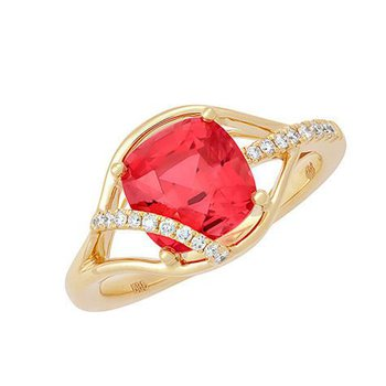 Padparadscha Ring-CR11737YPD