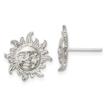 Sterling Silver Sun Mini Earrings