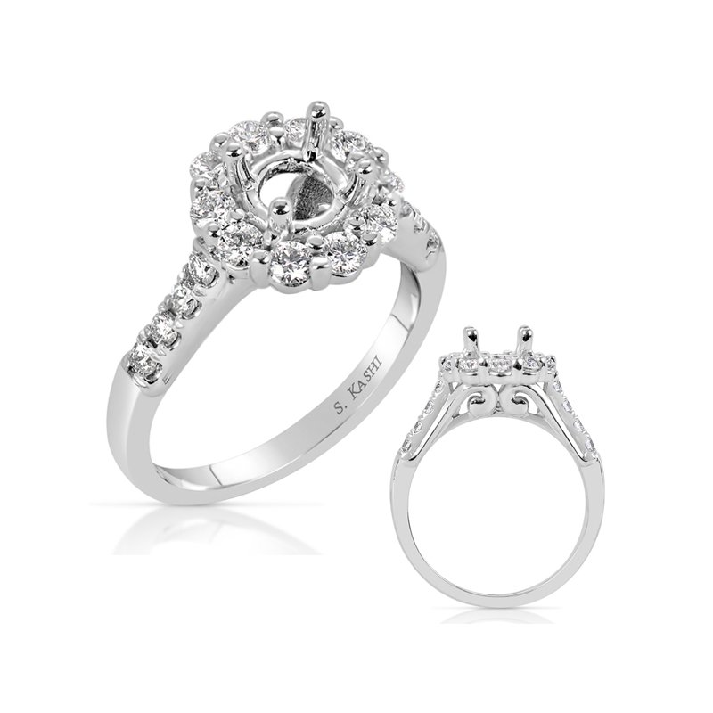 S. Kashi  & Sons Palladium Engagement Ring
