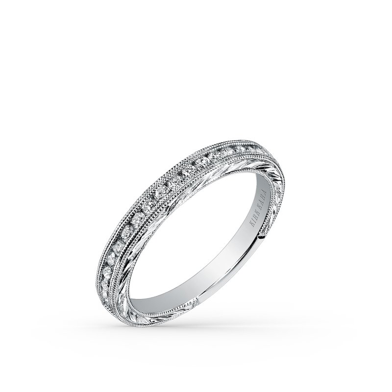 Kirk Kara Engraved Milgrain Vintage Diamond Wedding Band