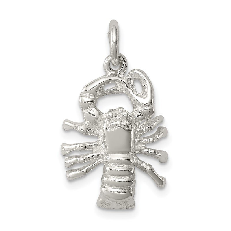 Quality Gold Sterling Silver Lobster Charm