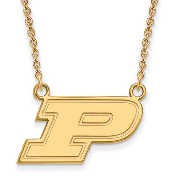 Gold-Plated Sterling Silver Purdue University NCAA Necklace