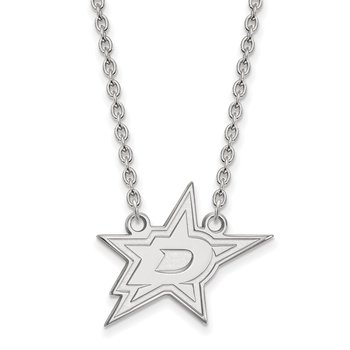 Sterling Silver Dallas Stars NHL Necklace