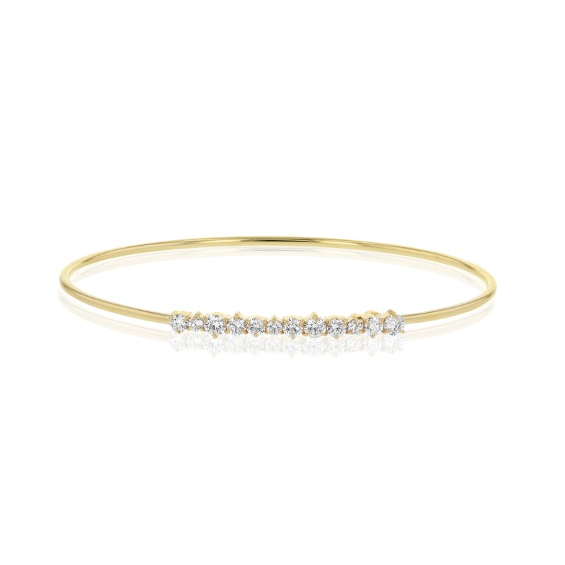 Phillips House Yellow gold diamond Enchanted wire strap bracelet