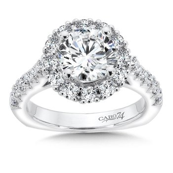 Grand Opulance Collection Round Halo Engagement Ring in 14K White Gold (2ct. tw.)