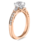 Valina Diamond Engagement Ring Mounting in 14K Rose Gold with Platinum Head (.37 ct. tw.)
