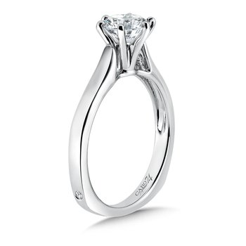 Classic Elegance Six-Prong Round Solitaire Engagement Ring in 14K White Gold with Platinum Head (1ct. tw.)