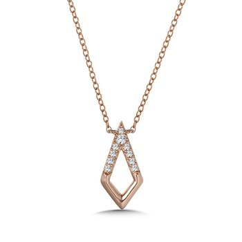 10K Diamond Kite Necklace