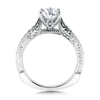 Valina Bridals Mounting with side stones .25 ct. tw., 3/4 ct. round center.