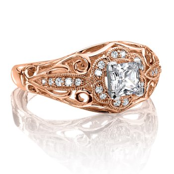 Diamond Engagement Ring Mounting in 14K Rose Gold (.14 ct. tw.)