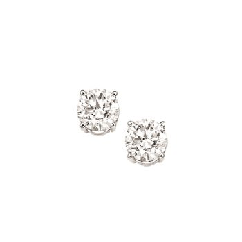 Diamond Stud Earrings in 18K White Gold (1/20 ct. tw.) I1/I2 - J/K