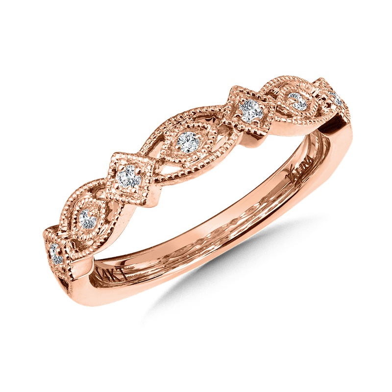 Valina Stackable Wedding Band in 14K Rose Gold (.10 ct. tw.)