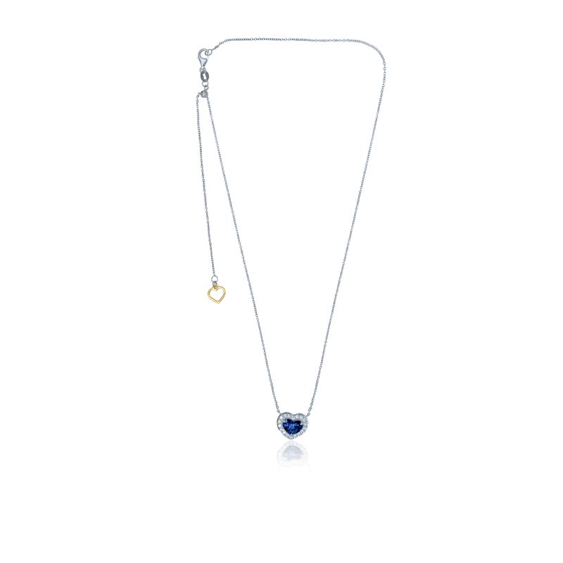 Roman & Jules Heartshaped Sapphire & Diamond Necklace