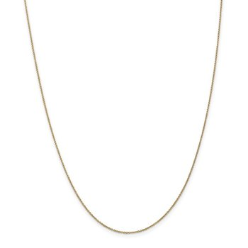 Leslie's 14K .9mm Round Cable Chain