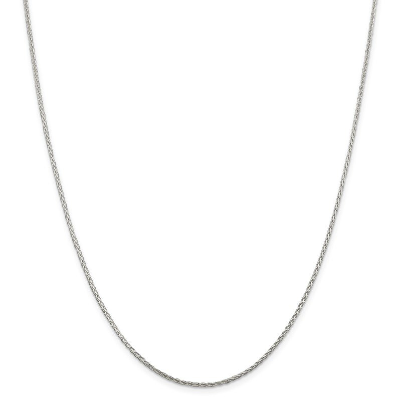 Quality Gold Sterling Silver 1.5mm Diamond-cut Round Spiga Chain