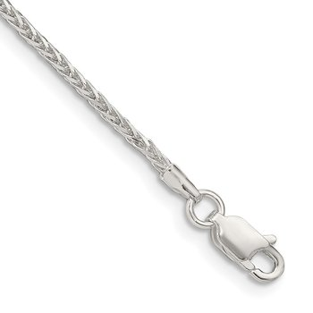 Sterling Silver 1.5mm Diamond-cut Round Spiga Chain
